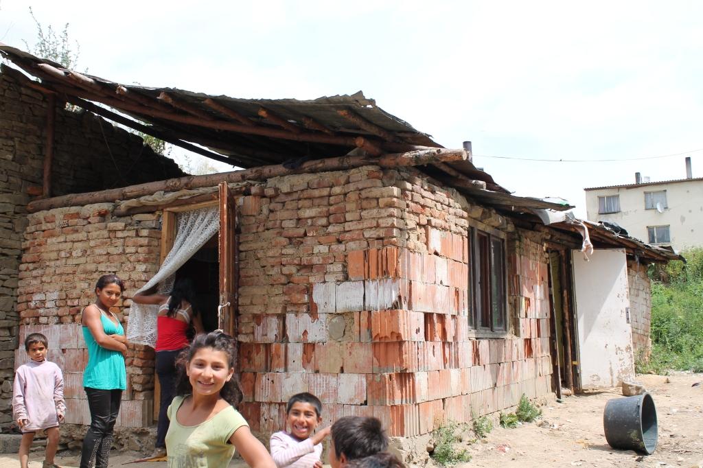 Roma settlement in Lucenec