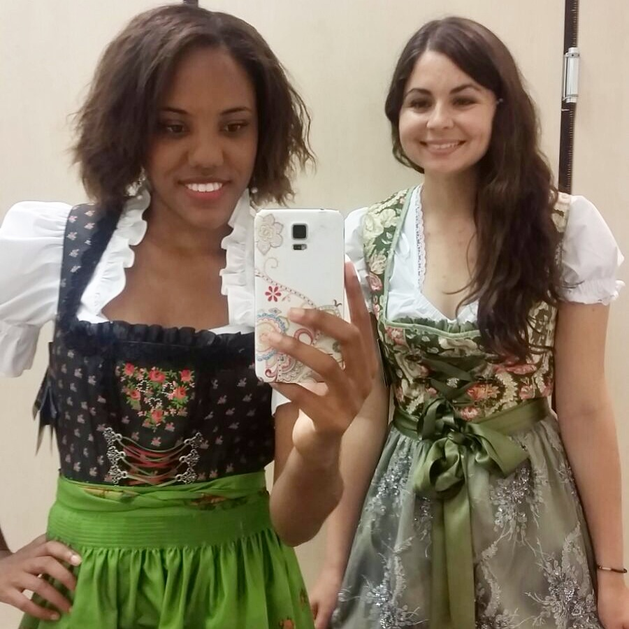 Trying on dirndl
